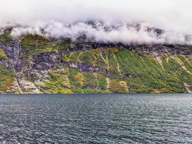 Wispy clouds over Geirangerfjord