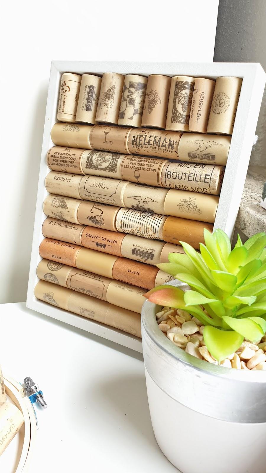 DIY planner with cork frame