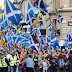 Шотландия вышла на марш за независимость