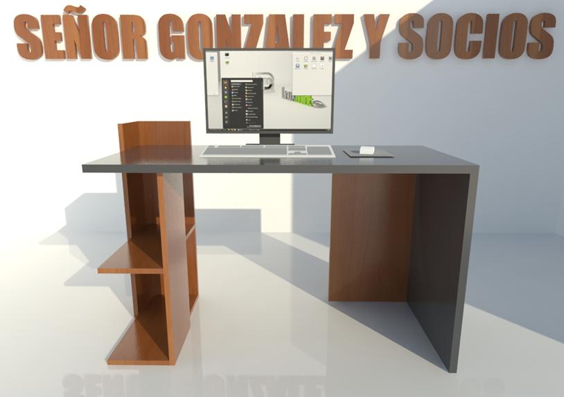 Dise o de muebles madera planos fabricaci n escritorio for Planos de escritorios