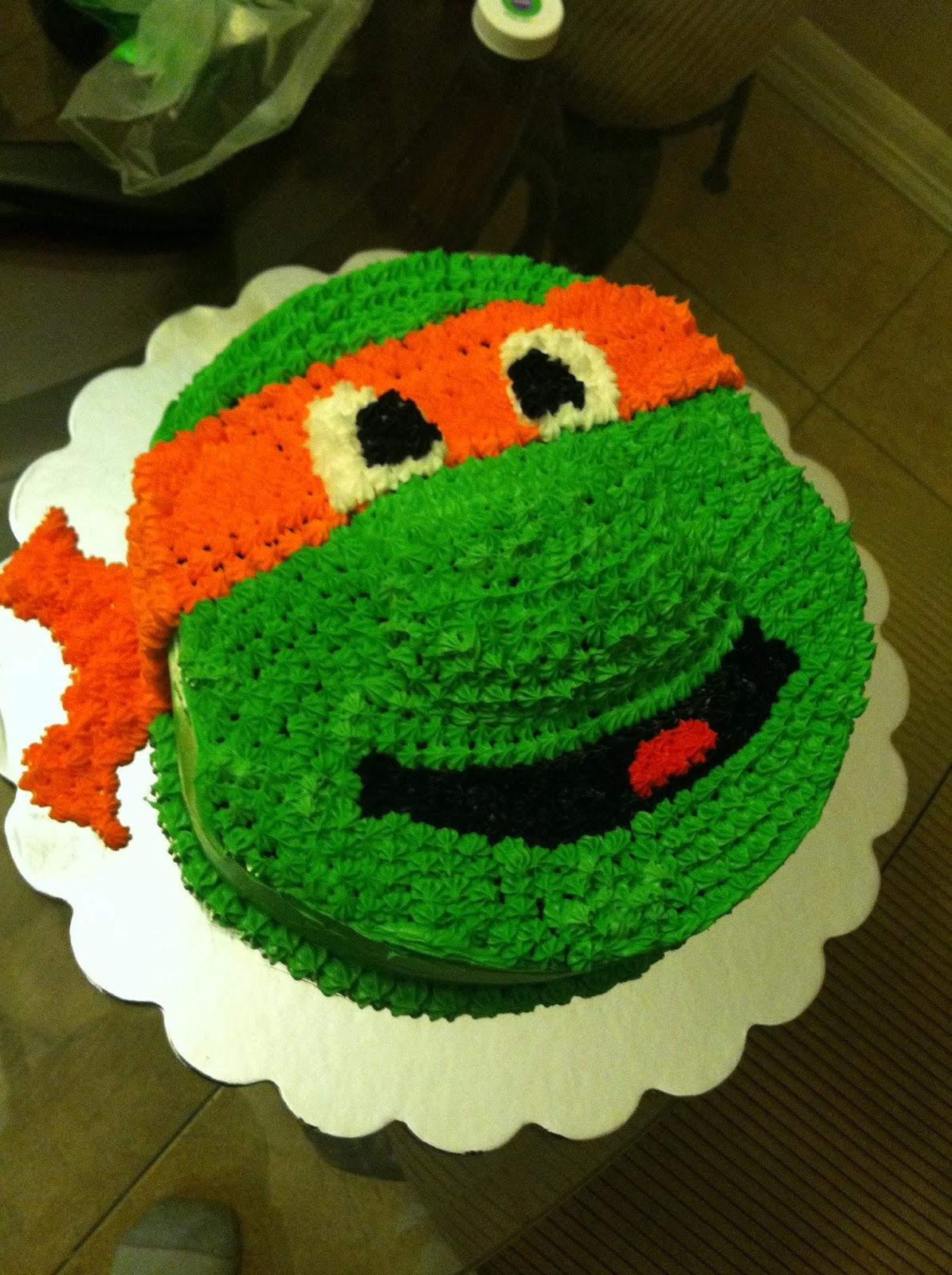 The Classy Cake Ninja Turtle Cake