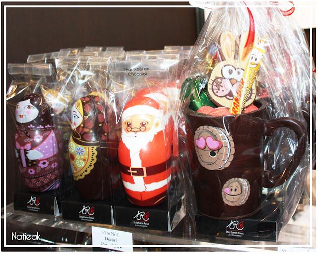 Poupées russe et Père Noël en chocolat de Stéphane Roux