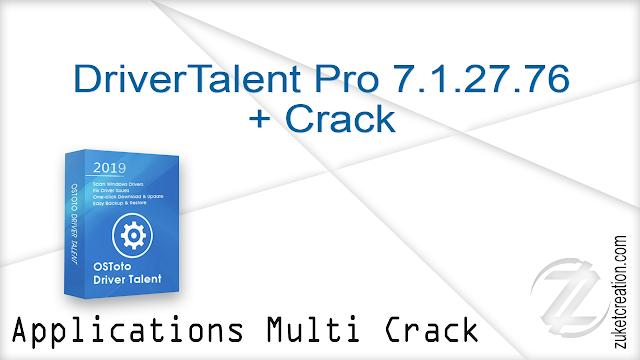 Driver Talent Pro 7.1.27.76 + Crack |  44 MB