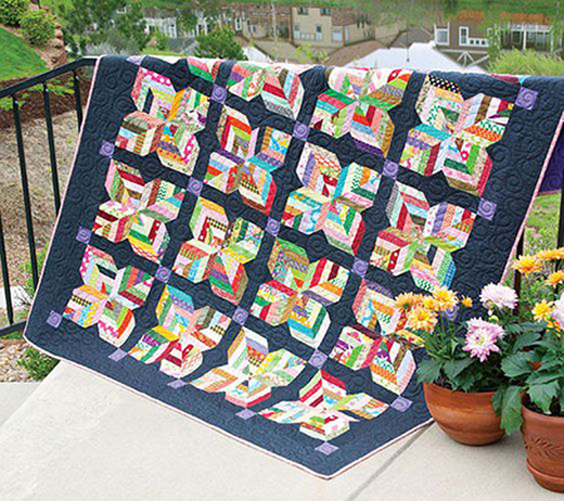 Maisy Daisy Scrappy Lap Quilt Free Pattern