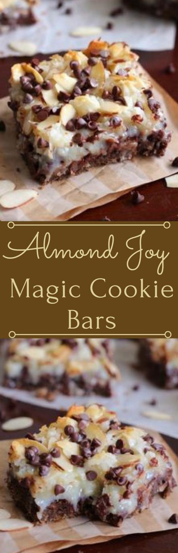 Almond Joy Magic Cookie Bars #cookie #bars #dessert #cake #almond