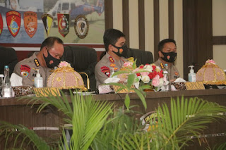 Kapolres Pangkep hadiri Taklimat Akhir Wasrik Rutin Itwasum Polri Tahap II T.A 2020