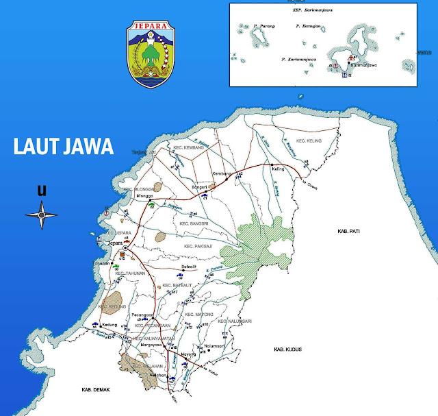 Gambar Peta infrastruktur Kabupaten Jepara