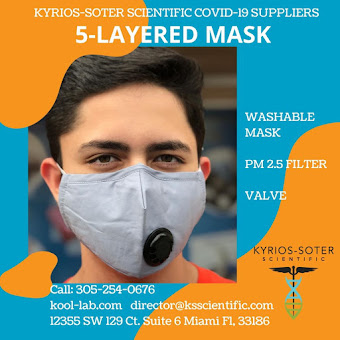Reusable Fabric Mask with Filter and Valve