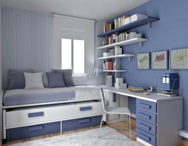 Dormitorios azules blue bedrooms dormitorio azul by for Dormitorio azul y gris