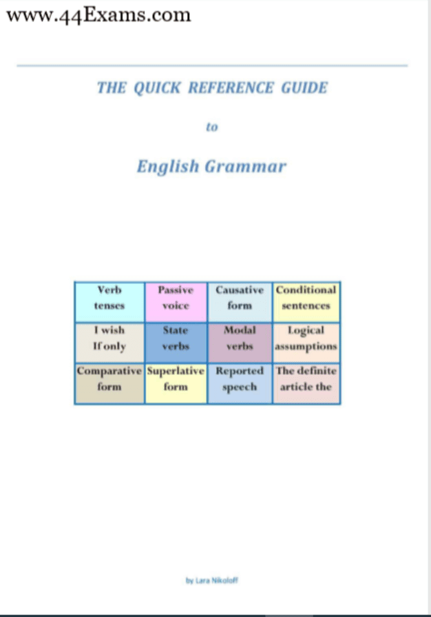 The-Quick-Reference-Guide-to-English-Grammar-For-All-Competitive-Exam-PDF-Book