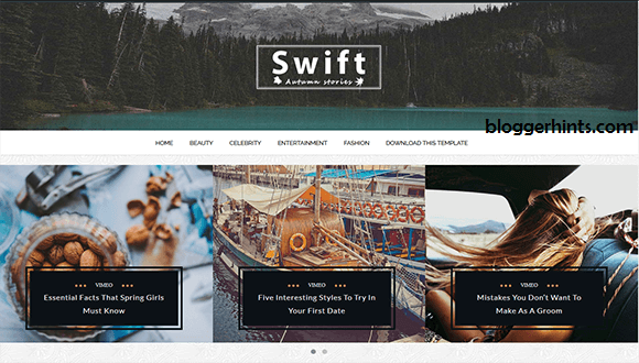 Swift Blogger Theme
