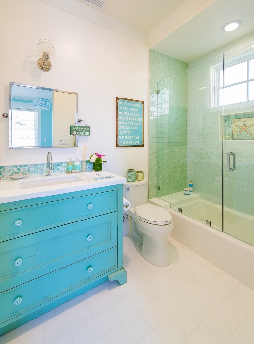 Blue Painted Bathroom Vanity Ideas