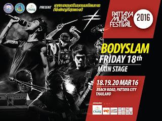 Bodyslam Live @ Pattaya Music Festival 2016