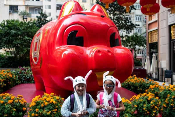 Pigs symbolise good fortune in Chinese culture
