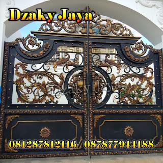 Model Pintu Pagar Swing Besi Tempa, Pagar Besi Tempa yang kami pasang di Tangerang.