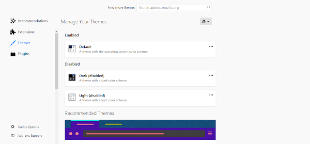Change Themes Feature In Firefox