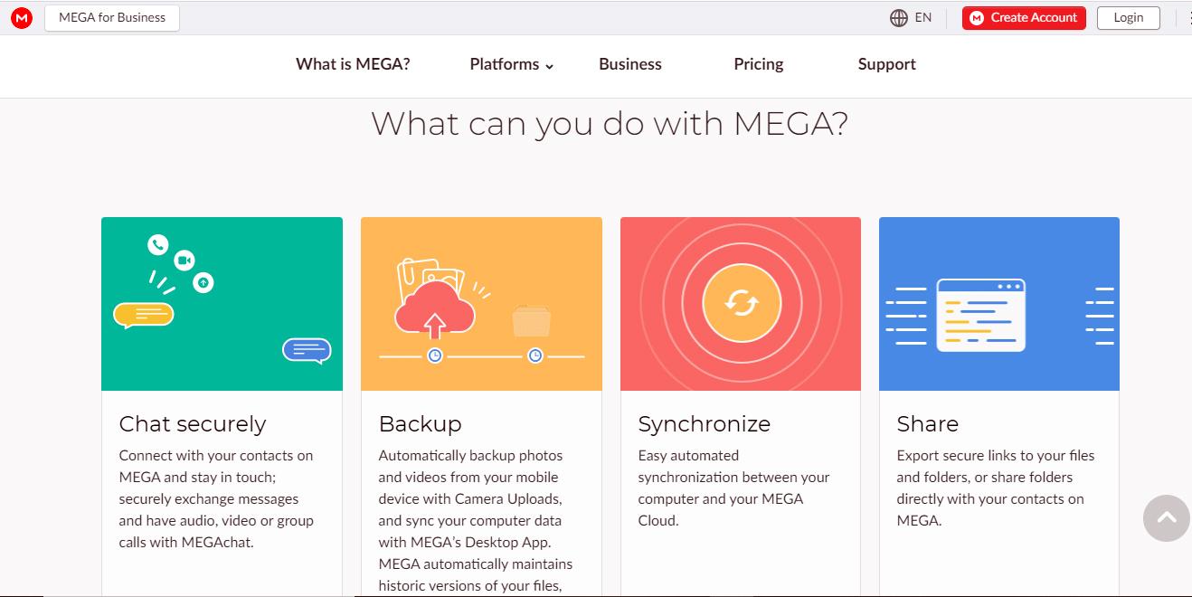 Mega Cloud Storage Service