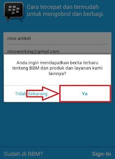 Tawaran Produk BBM Untuk Android