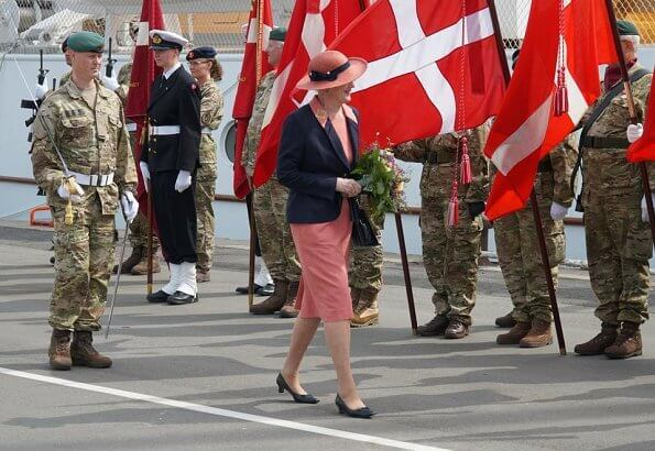 Queen Margrethe II arrived at Aarhus Harbour to stay at her summer residence Marselisborg Castle