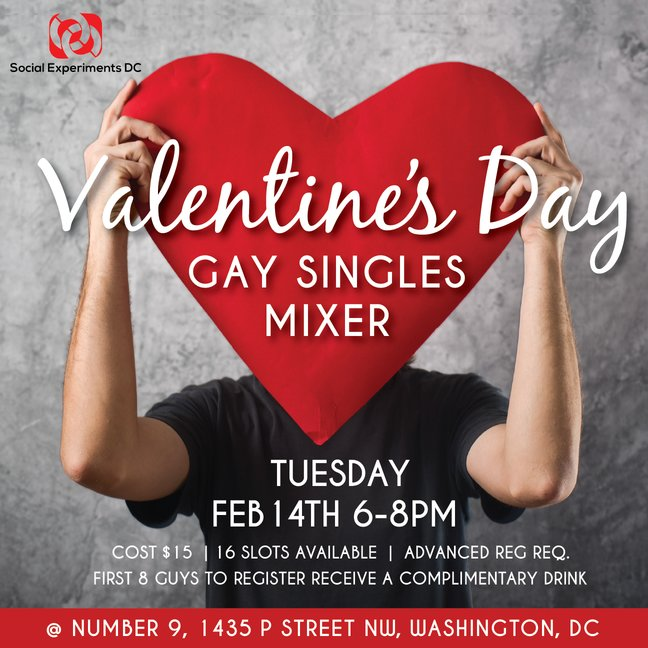 Valentine's Day Gay Singles Mixer- DC