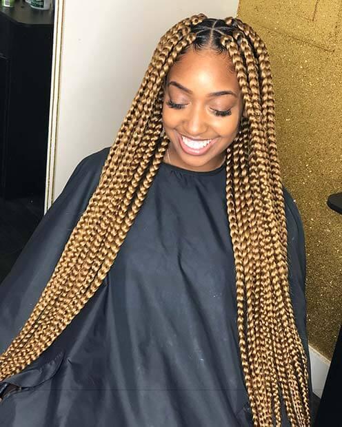 Traditional Blonde Box Braids Hairstyles 2018 Will Love Fashionuki