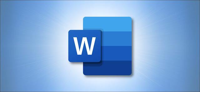 شعار Microsoft Word على اللون الأزرق