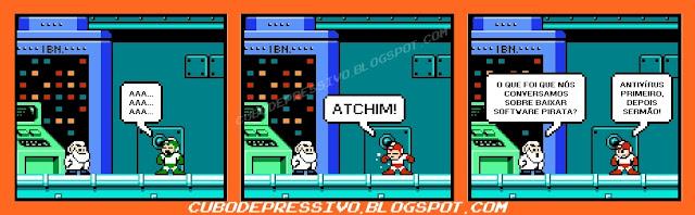 tirinha gamer 8 bit