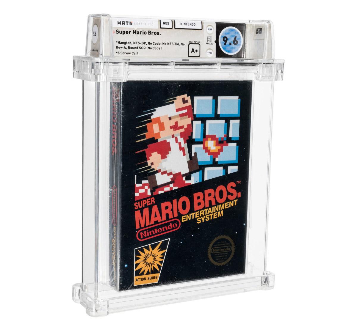 Uau! Cartucho lacrado de Super Mario Bros. foi vendido por US$ 660.000 em leilão