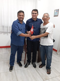 Prefeito de Picuí Olivânio Remígio (PT), se reúne com presidente estadual da legenda em JP