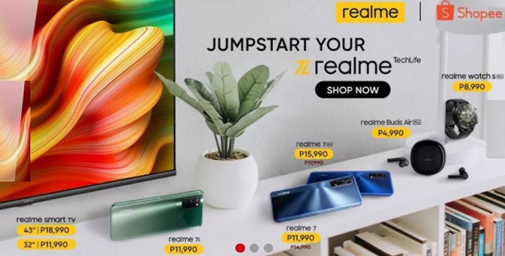 Enjoy up to 30% OFF on realme devices in Shopee 7.7 Mid-Year Sale