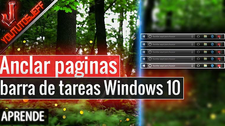 Como anclar paginas a la barra de tareas Windows 10 Fall Creators Update