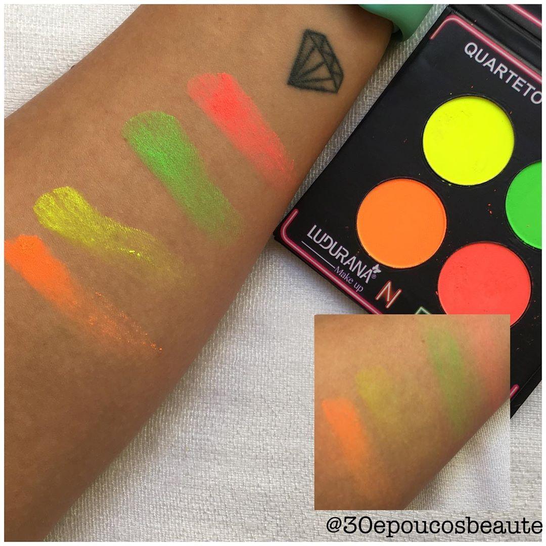 Resenha paleta sombra neon Ludurama