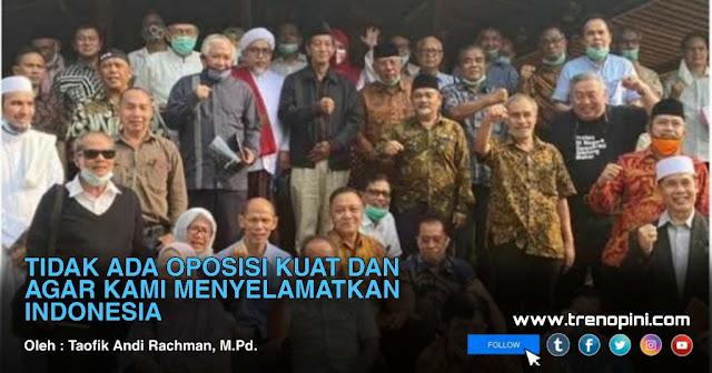 mendeklarasikan Koalisi Aksi Menyelamatkan Indonesia (KAMI) di sebuah rumah makan di Jalan Fatmawati, Jakarta Selatan, Minggu tanggal 2 Agustus 2020 lalu