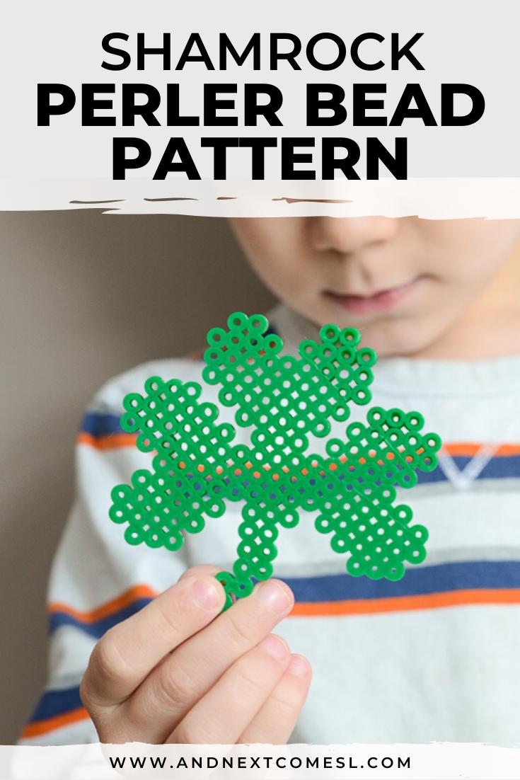 Shamrock perler bead pattern
