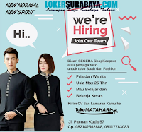 We Are Hiring at Toko Matahari Surabaya Juni 2020