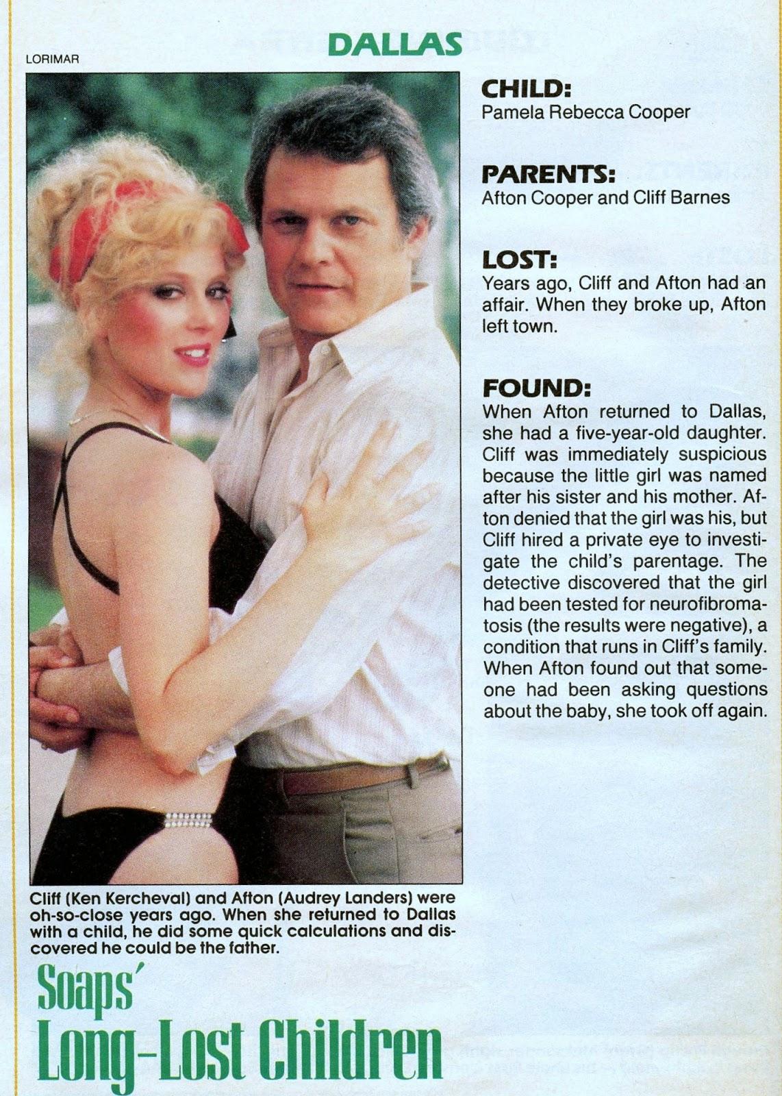 Audrey Landers Dallas soap's long-lost children part 13 of 13