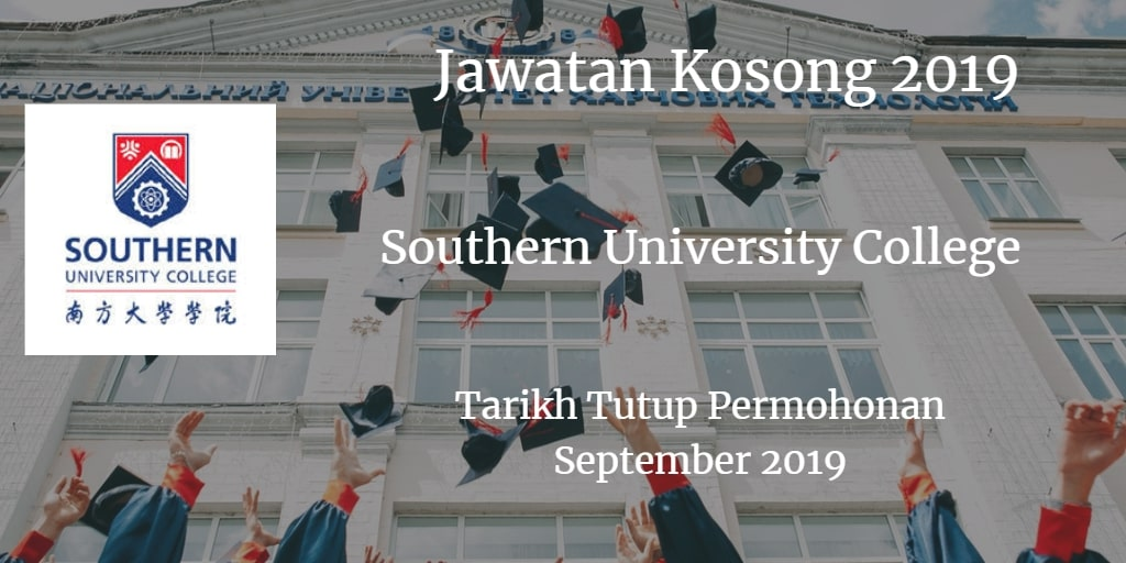 Jawatan Kosong Southern University College September 2019