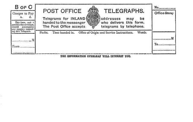 Propnomicon 1930 Telegram