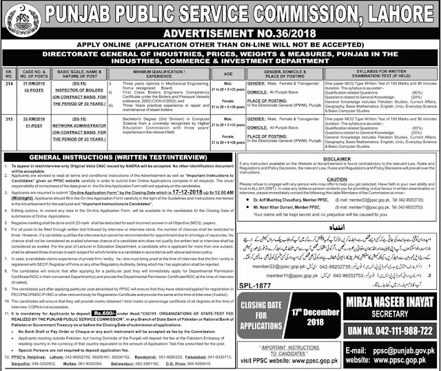 Latest PPSC job in Punjab 2019