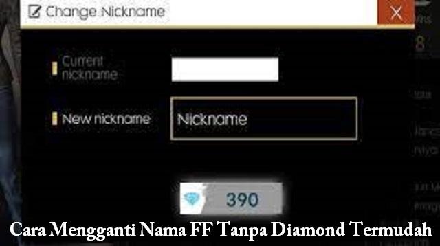 Cara Mengganti Nama FF Tanpa Diamond