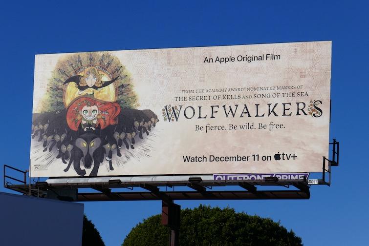 Wolfwalkers movie billboard