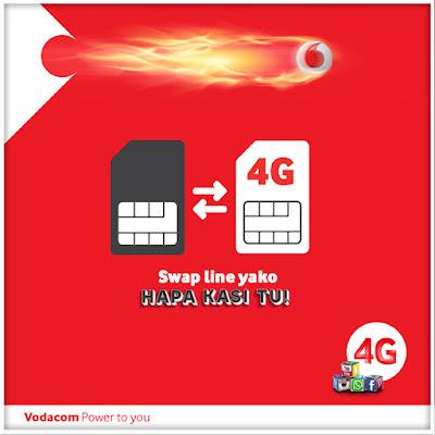 Vodacom 4G LTE Tanzania, Hapa Kasi Tu