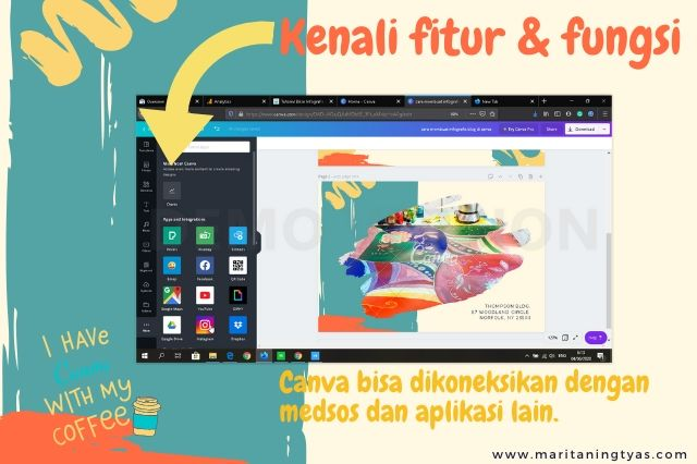 cara membuat infografis blog pilihan more di canva integrasi medsos