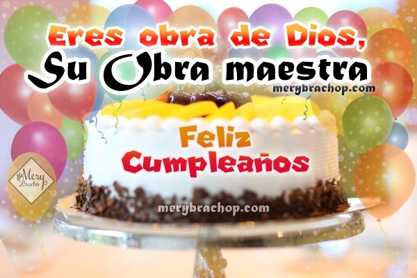 Imagen torra de cumpleaños con mensajes bonitos felicitar