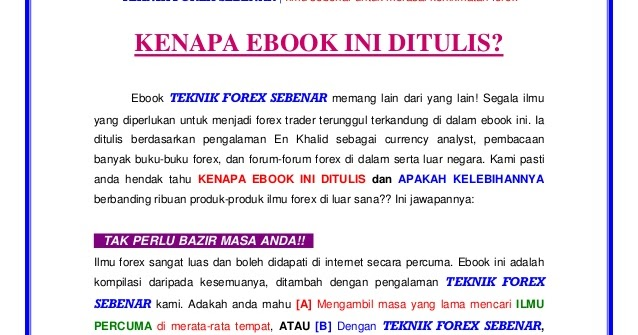Ebook teknik forex sebenar v3 free download