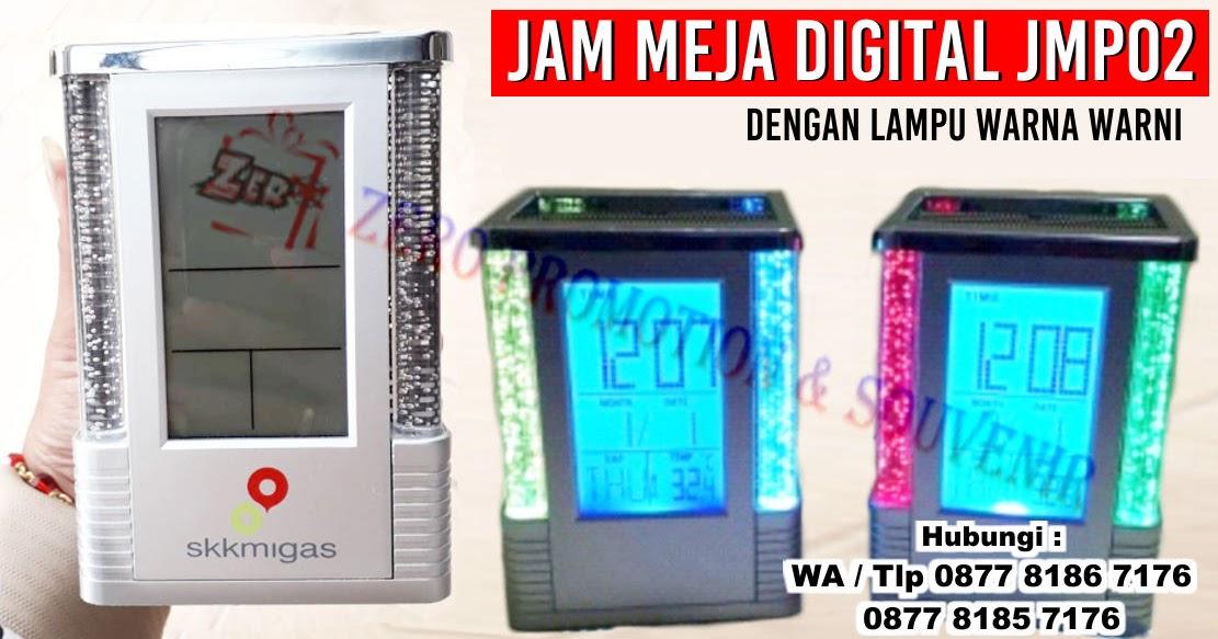 Barang Promosi Jam Meja Digital JMP02 Cetak Logo
