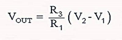 دائرة مكبر العمليات Subtractor (الطارح)