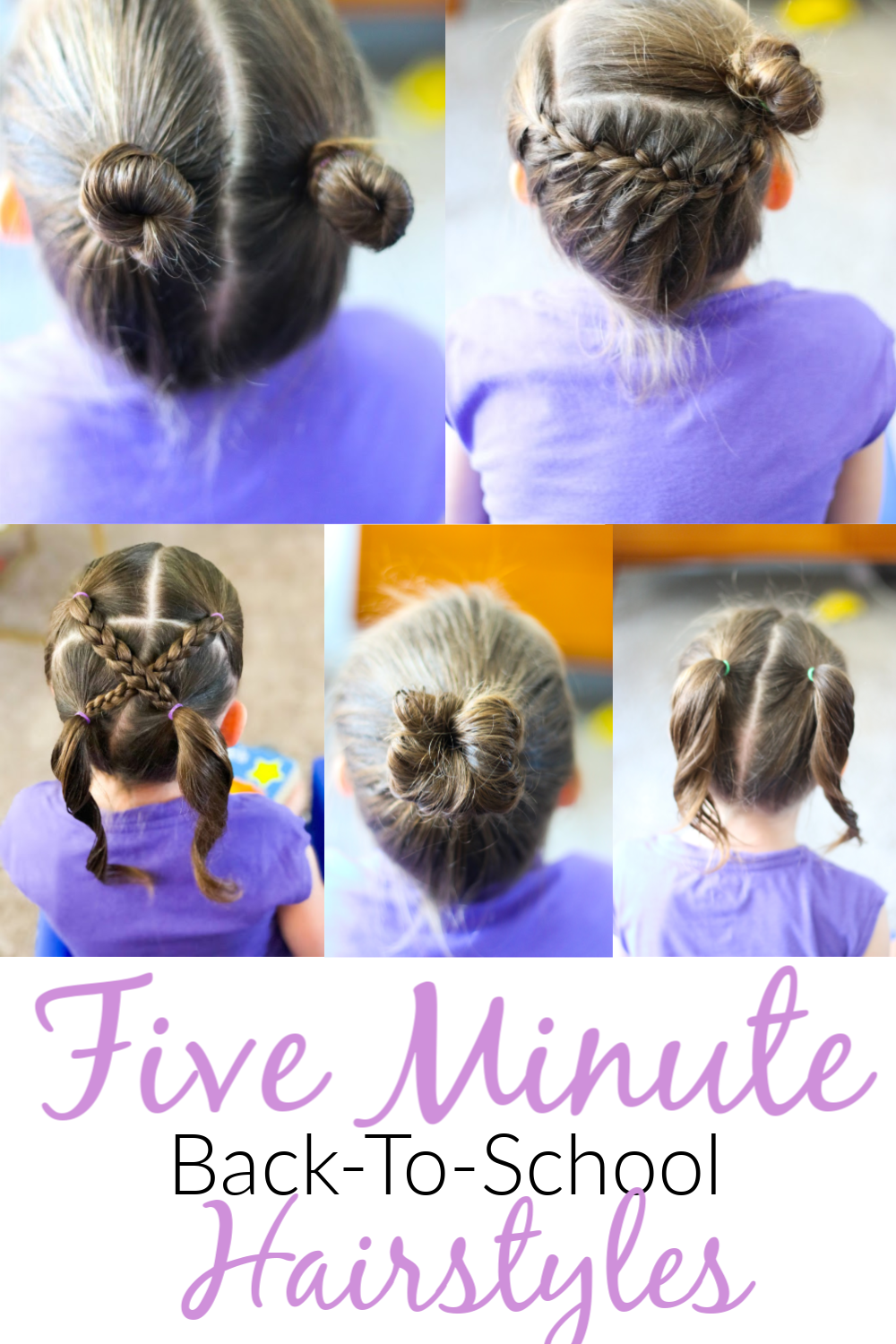 5 Back To School Hair Styles In Under 5 Minutes The Happy
