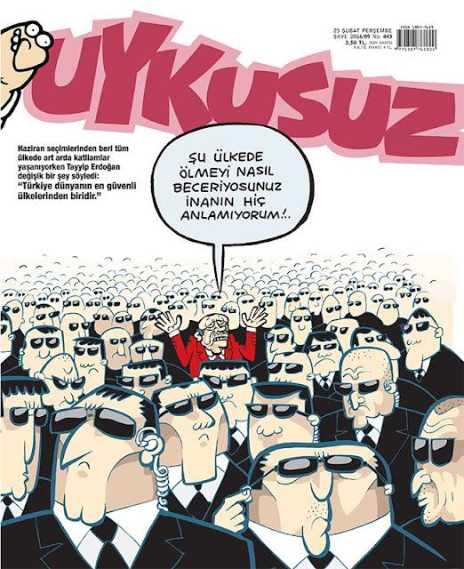 Uykusuz Dergisi - 25 Şubat 2016 Kapak Karikatürü