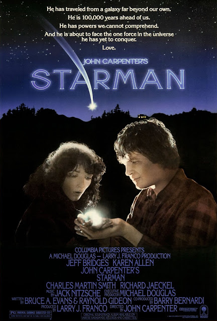 Starman 1984 movie poster John Carpenter Jeff Bridges Karen Allen